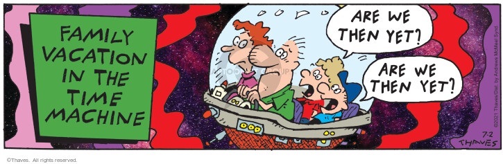 Comic Strip Bob Thaves Tom Thaves  Frank and Ernest 2021-07-02 travel