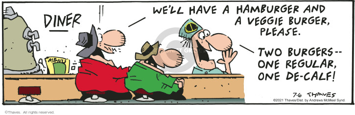Comic Strip Bob Thaves Tom Thaves  Frank and Ernest 2021-07-06 one