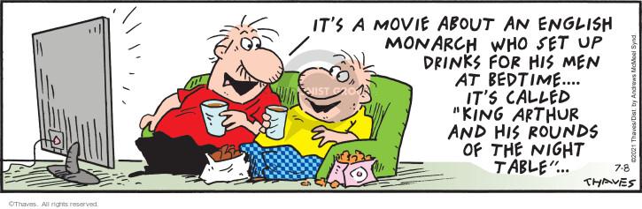 Comic Strip Bob Thaves Tom Thaves  Frank and Ernest 2021-07-08 Tom