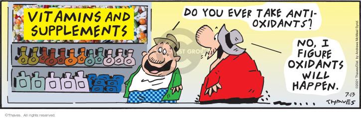 Comic Strip Bob Thaves Tom Thaves  Frank and Ernest 2021-07-13 Tom