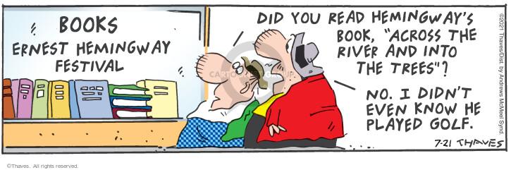 Comic Strip Bob Thaves Tom Thaves  Frank and Ernest 2021-07-21 Tom