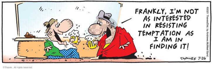 Comic Strip Bob Thaves Tom Thaves  Frank and Ernest 2021-07-26 Tom