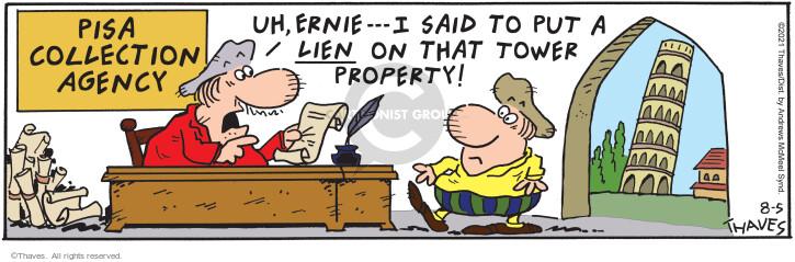Comic Strip Bob Thaves Tom Thaves  Frank and Ernest 2021-08-05 alike