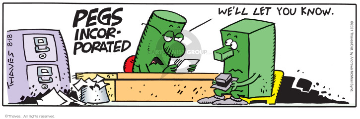 Comic Strip Bob Thaves Tom Thaves  Frank and Ernest 2021-08-18 employee