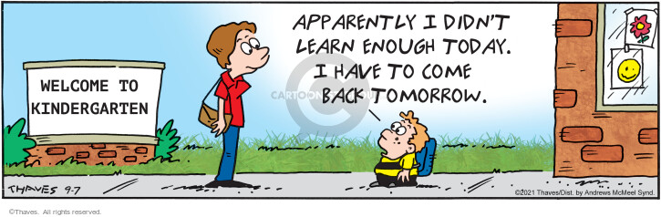Comic Strip Bob Thaves Tom Thaves  Frank and Ernest 2021-09-07 student