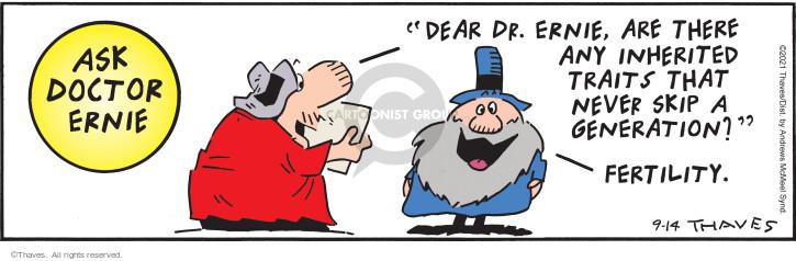 Comic Strip Bob Thaves Tom Thaves  Frank and Ernest 2021-09-14 Tom