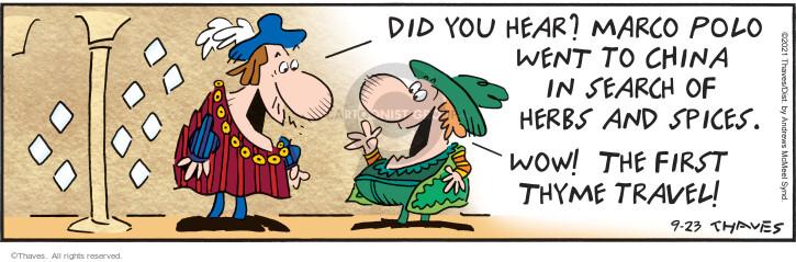 Comic Strip Bob Thaves Tom Thaves  Frank and Ernest 2021-09-23 Tom