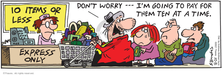 Comic Strip Bob Thaves Tom Thaves  Frank and Ernest 2021-10-08 Ernest