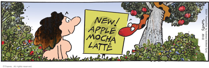 Comic Strip Bob Thaves Tom Thaves  Frank and Ernest 2021-10-11 Ernest