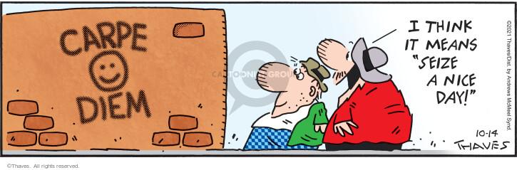Comic Strip Bob Thaves Tom Thaves  Frank and Ernest 2021-10-14 Ernest