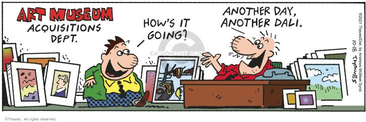 Comic Strip Bob Thaves Tom Thaves  Frank and Ernest 2021-10-18 Ernest