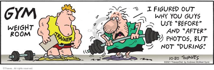 Comic Strip Bob Thaves Tom Thaves  Frank and Ernest 2021-10-20 Ernest