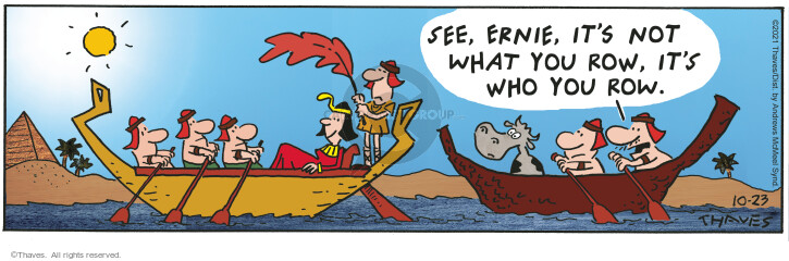 Comic Strip Bob Thaves Tom Thaves  Frank and Ernest 2021-10-23 Ernest