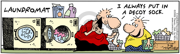 Comic Strip Bob Thaves Tom Thaves  Frank and Ernest 2005-03-16 laundry