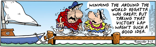 Comic Strip Bob Thaves Tom Thaves  Frank and Ernest 2005-03-17 sailor
