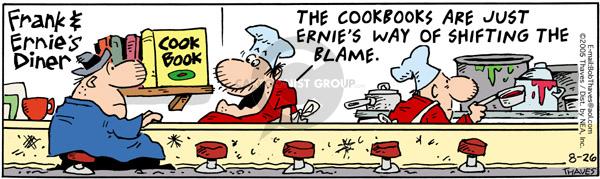 Cartoonist Bob Thaves Tom Thaves  Frank and Ernest 2005-08-26 cookbook