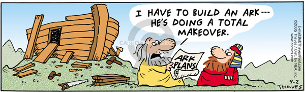 Comic Strip Bob Thaves Tom Thaves  Frank and Ernest 2005-09-02 Noah's Ark