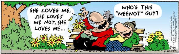 Comic Strip Bob Thaves Tom Thaves  Frank and Ernest 2005-09-10 guy