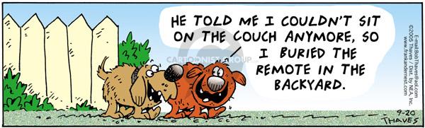 Comic Strip Bob Thaves Tom Thaves  Frank and Ernest 2005-09-20 discipline