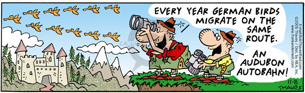 Comic Strip Bob Thaves Tom Thaves  Frank and Ernest 2005-11-08 Audubon
