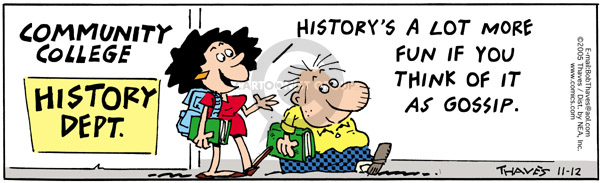 Comic Strip Bob Thaves Tom Thaves  Frank and Ernest 2005-11-12 gossip