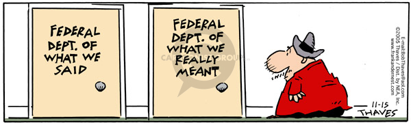 Comic Strip Bob Thaves Tom Thaves  Frank and Ernest 2005-11-15 Federal government