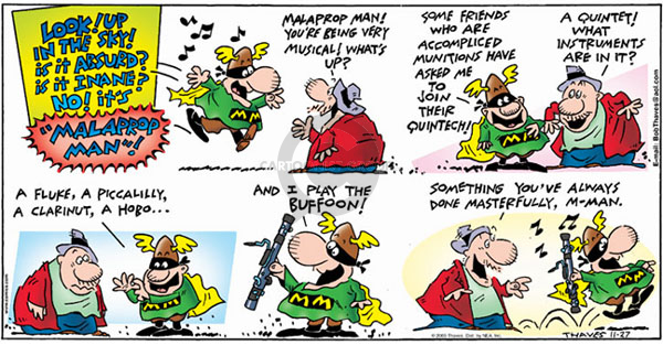 Comic Strip Bob Thaves Tom Thaves  Frank and Ernest 2005-11-27 something