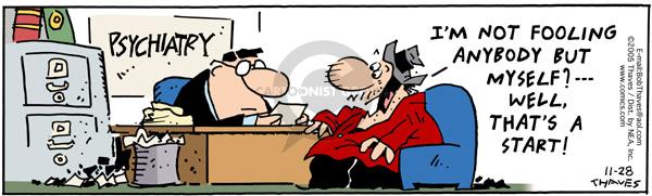 Cartoonist Bob Thaves Tom Thaves  Frank and Ernest 2005-11-28 session