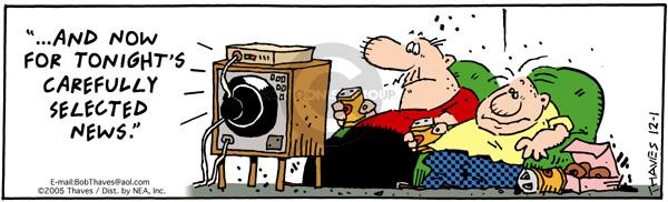 Cartoonist Bob Thaves Tom Thaves  Frank and Ernest 2005-12-01 media bias