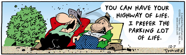 Comic Strip Bob Thaves Tom Thaves  Frank and Ernest 2005-12-07 parking