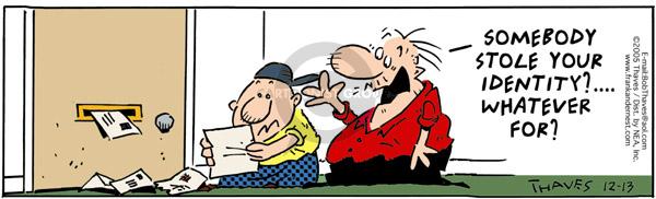 Cartoonist Bob Thaves Tom Thaves  Frank and Ernest 2005-12-13 data