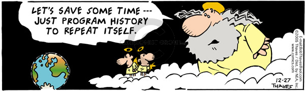 Comic Strip Bob Thaves Tom Thaves  Frank and Ernest 2005-12-27 cloud