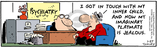Cartoonist Bob Thaves Tom Thaves  Frank and Ernest 2006-01-27 jealousy