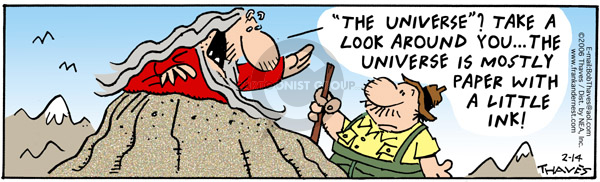 Comic Strip Bob Thaves Tom Thaves  Frank and Ernest 2006-02-14 hiker