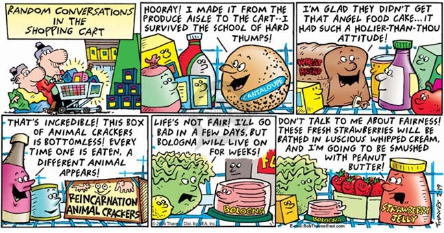 Cartoonist Bob Thaves Tom Thaves  Frank and Ernest 2006-02-19 peanut