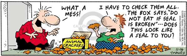 Comic Strip Bob Thaves Tom Thaves  Frank and Ernest 2006-11-16 food safety