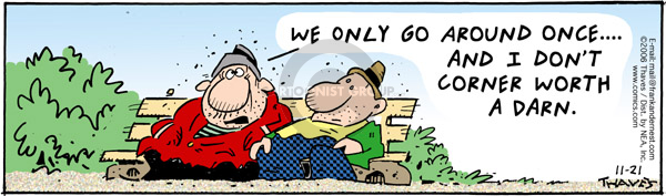 Comic Strip Bob Thaves Tom Thaves  Frank and Ernest 2006-11-21 darn