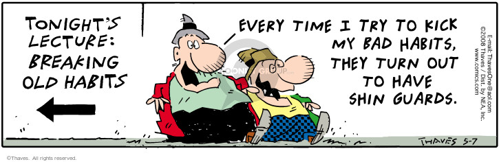 Comic Strip Bob Thaves Tom Thaves  Frank and Ernest 2008-05-07 behavior modification