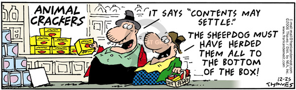 Comic Strip Bob Thaves Tom Thaves  Frank and Ernest 2006-12-25 food store