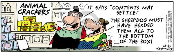 Cartoonist Bob Thaves Tom Thaves  Frank and Ernest 2006-12-25 herd