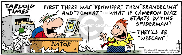 Comic Strip Bob Thaves Tom Thaves  Frank and Ernest 2006-12-28 newspaper