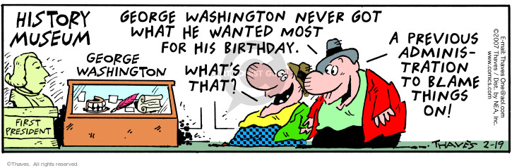 Comic Strip Bob Thaves Tom Thaves  Frank and Ernest 2007-02-19 politics