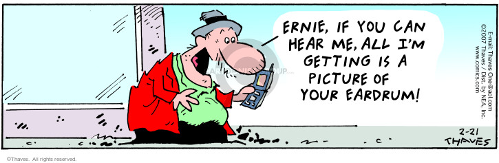 Comic Strip Bob Thaves Tom Thaves  Frank and Ernest 2007-02-21 camera