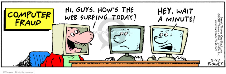 Comic Strip Bob Thaves Tom Thaves  Frank and Ernest 2007-02-27 web surfing