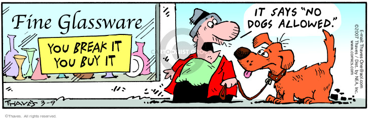 Comic Strip Bob Thaves Tom Thaves  Frank and Ernest 2007-03-09 purchase