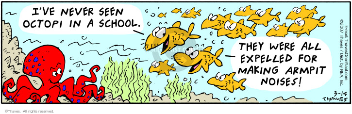 Comic Strip Bob Thaves Tom Thaves  Frank and Ernest 2007-03-14 underwater