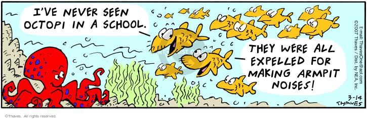 Comic Strip Bob Thaves Tom Thaves  Frank and Ernest 2007-03-14 discipline