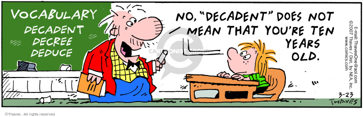 Comic Strip Bob Thaves Tom Thaves  Frank and Ernest 2007-03-23 education