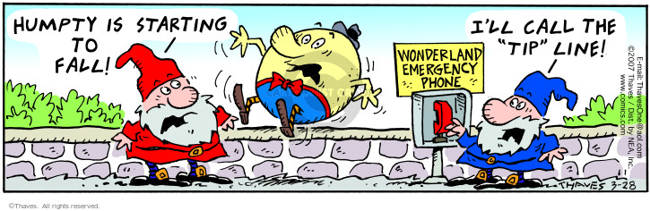 Cartoonist Bob Thaves Tom Thaves  Frank and Ernest 2007-03-28 Humpty Dumpty