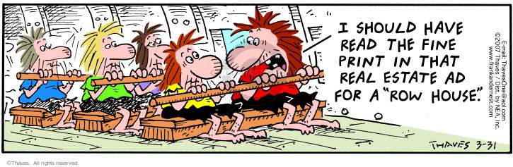 Comic Strip Bob Thaves Tom Thaves  Frank and Ernest 2007-03-31 advertisement